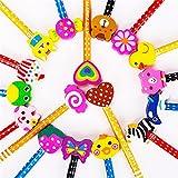 Lápices Infantiles con Borrador de Bibujos Multicolores, KimKo Lápices para Niños Regalos para...