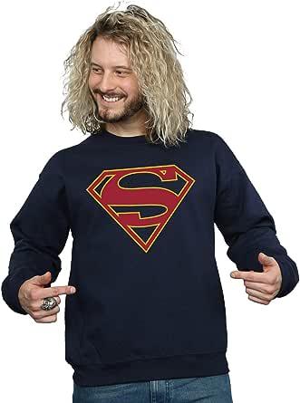 DC Comics Homme Supergirl Logo Sweat-Shirt