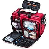 Kompakt First Aid Kit Emergency Survival Trauma Kit med märkta fack, stor kapacitet utomhus vattentät nödsats