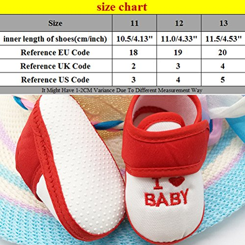 Zhhlinyuan Fashion Baby Girls Boys Shoes Toddler Soft Sole Non-slip Shoes CX009 Blue&White
