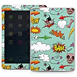 Apple IPad Air Case Skin Sticker aus Vinyl-Folie Aufkleber Totenkopf Comic Bombe Sticker Style