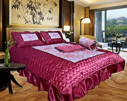 Urban style Satin Designer Wedding Bedding set, set of 4 pcs