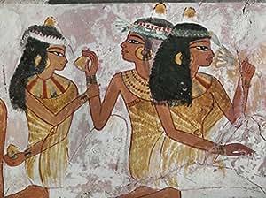 "Stampa artistica / Poster: 15. Jahrhundert v.Chr ""Festive Scene / Egypt.Wall Paint./C15 BC"" - stampa di alta qualità, immagini, poster artistici, 75x55 cm"