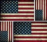4 x adesivi bandiera americana usa, vintage, per auto e moto, biker macbook