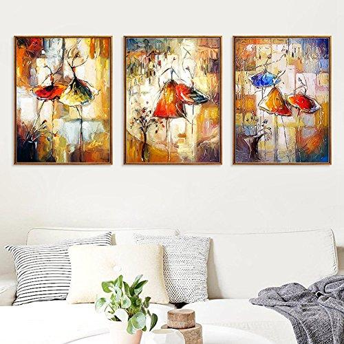 bdrsjdsb Abstrakte Aquarell Tänzerin Leinwand Malerei Wandkunst Wohnzimmer Wohnkultur Poster 2# 20 * 30 cm -