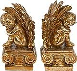 Paar Buchstützen Engel 11x11x22 CM