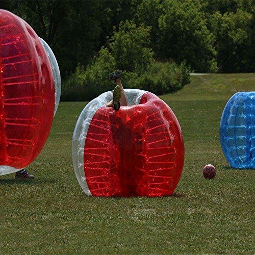 amazingsportstm burbuja fútbol pelotas de carcasa para barato 5.6'1,7m PVC transparente y para adultos/niños medio rojo medio (1,2m 1,5m disponible)