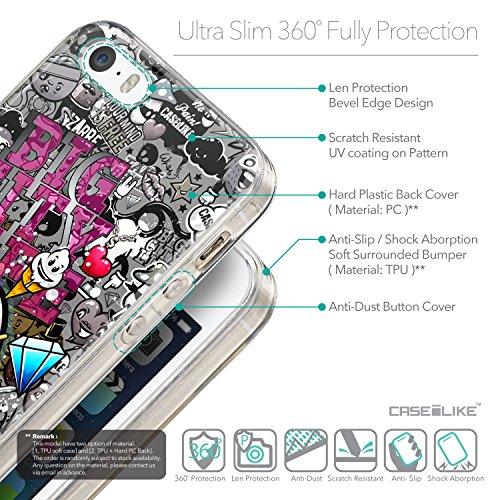 CASEiLIKE Graffiti 2709 Housse Étui UltraSlim Bumper et Back for Apple iPhone 5G / 5S +Protecteur d'écran+Stylets rétractables (couleur aléatoire) 2704