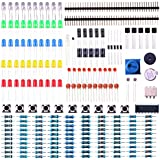 Elegoo Kit Básico de Componentes Electrónicos con Resistencias, Leds, Condensadores, Zumbador, Potenciómetro de Precisión, Compatible con Arduino UNO, MEGA2560, Raspberry Pi, Hoja de Especificaciones Disponible para Descarga Compatible con Arduino UNO MEGA 2560 NANO