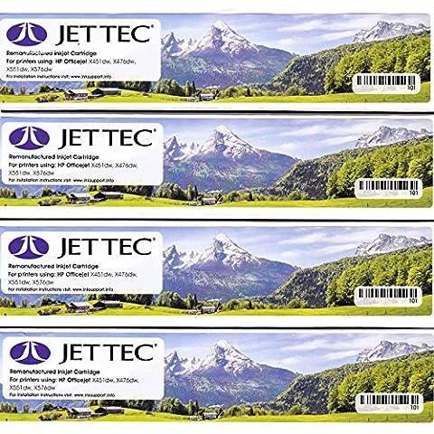 970XL Negro / 971XL Cartucho de tinta remanufacturado HP Color para HP Officejet Pro X451dn X451dw X476dn X476dw X551dw