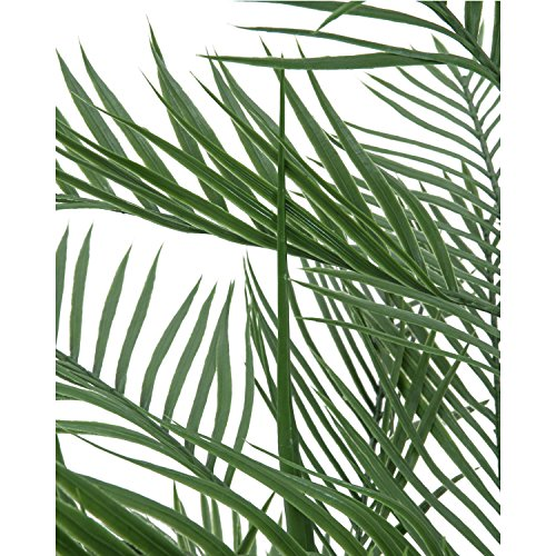 artplants Set 2 x Künstliche Kentia-Palme mit 2 Stämmen, 150 cm – Künstliche Palme/Cycas Kunstpflanzen