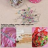 Hlitand 500 Unids Perlas Multicolor Agujas de Acolchar Pins en Tela Rosa Cojín Pin Botella de Costura de Artesanía