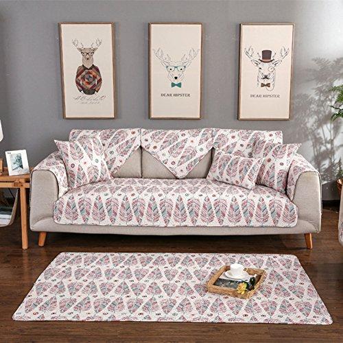 Nclon Copridivano Asciugamano divano Estate Sottile,Quattro stagioni universale Tessuto Anti-slittamento Trapuntato couch Couch protector Divano slipcover 1 2 3 4 Posti-C 70cm*210cm