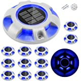CHINLY Solar Dock Lights Outdoor Waterproof, LED Deck Light Driveway Lights for Marine Pathway Garden Yard Lamdscape Stair St