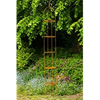 Rankgerüst H: 300cm hoch, 10mm Volleisen Obelisk Rost H: 100cm, Rankhilfe,