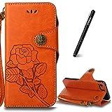 Slynmax Orange Coque iPhone 8 Housse en PU Cuir Ultra Slim Portefeuille Case Bumper...