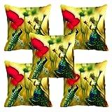 meSleep Peacocks Girl 3D Cushion Cover (16X16)