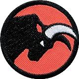 2 x Stier Abzeichen 45 mm / Zeichen Tier Symbol für Kraft Mut Entschlossenheit / hochwertige Applikation Aufnäher Aufbügler Flicken Sticker Patch Bügelbild für Mode Sport Kleidung Tasche Rucksack