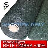immagine prodotto RETE OMBREGGIANTE OMBRA TELO VERDE GIARDINO + 90% H.200cm 100mt FRANGISOLE FRANGIVISTA