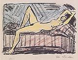 Das Museum Outlet–Otto Mueller–Liegende auf der Couch–1919, gespannte Leinwand Galerie verpackt. 96,5x 121,9cm