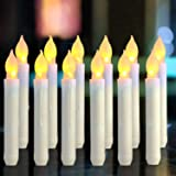 Bougies à LED -Longue Bougies de Chandelier - Ensemble de 12 Bougies sans Flammes Puissance de la AA Batterie Bougies 16.5X2