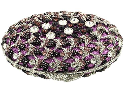Portafoglio Donna Pochette Sera Borsetta Partito Cerimonia Borsa Sposa Spalla Frizioni Eleganti Rosa Purple