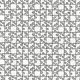 Ausmalstoff Popeline Puzzle – Weiss — Meterware ab 0,5m