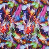 Fabulous Fabrics Softshell Abstrakte Bunte Wolken – pink