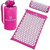 Akupressur-Set »Jimuta« / Tasche + Matte + Kissen / Akupressur- und Massagematte zur effektiven Lockerung und Lösung von Verspannungen / pink