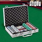 Maletín de cartas de póquer con 200 fichas de casino