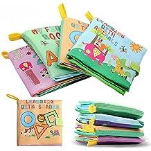 Bebé SUAVE LIBRO Animal Forest: Non-toxic Soft Baby Toys Educación Temprana Animal Cloth Book Set