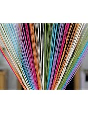Pindia Decorative Multicolored String Thread Room Door Curtain-Multicolor : 7ft x 3.6ft