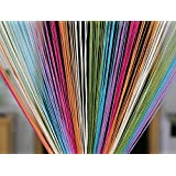 Pindia Decorative Multicolored String Thread Room Door Curtain- 7ft x 3.6ft, Multicolor