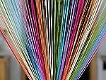 Pindia Decorative Multicolored String Thread Room Door Curtain