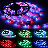 Ruban LED, DIZAUL 5M Bandeau LED 3528 RGB SMD Multicolore 300 LEDs Etanche Flexible Strip Light