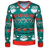Selou Männer Weihnachten Top Herbst und Winter 3D-Mode drucken lange Ärmel O-Neck Sweatshirt Bluse Loser junger Pullover Farbe Urlaub benutzerdefinierte Pullover Dicker Strickwaren