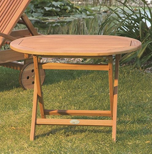 Oval Wooden Occasional Table - Simple Yet Elegant - Perfect For Complimenting Other Wooden Furniture In Your Garden