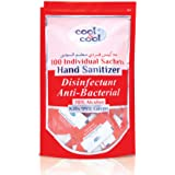 Cool & Cool Hand Sanitizer Disinfectant Anti Bacterial Sachet, 100 Count