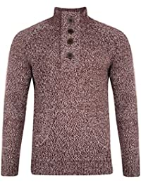 Smith & Jones Gill Button Neck Casual Jumper Pullover Knit Sweater