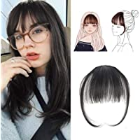Electomania® Clip On Clip In Front Hair Bang Fringe Hair Extension Piece Thin (Natural Color)