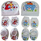 Sonpra New Born Baby 100 % Cotton Caps M...