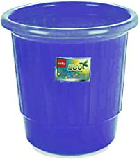 Cello Plastic Eco Waste Bin Garbage Bucket  Small, Blue , 7 Litre