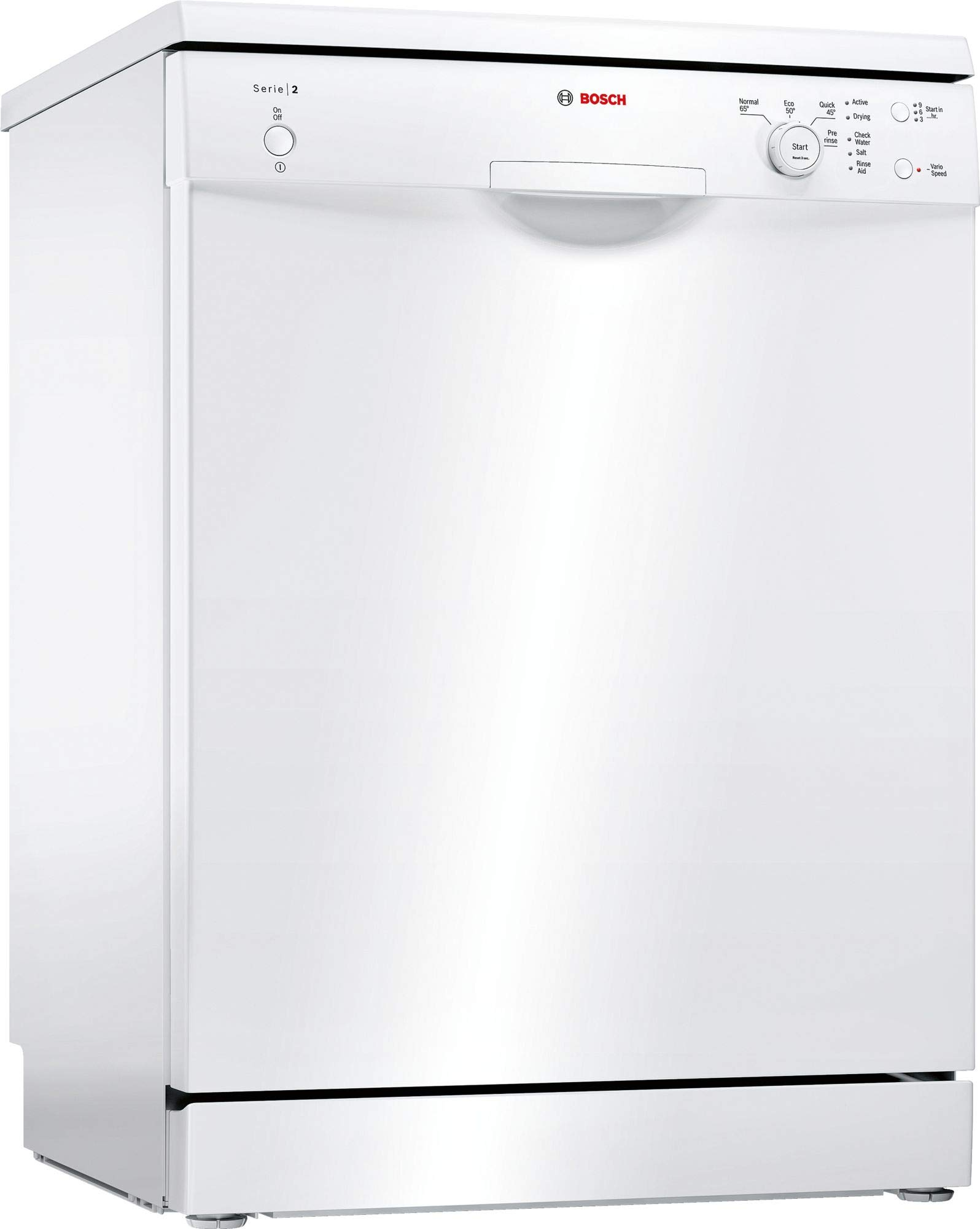 BOSCH SMS24AW01G Serie 2 Freestanding Dishwasher, 12 place settings, 60cm wide, White
