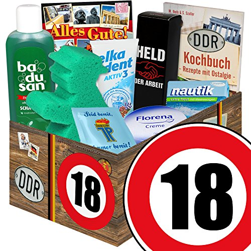 Für Geburtstag-geschenk-körbe Mädchen (18. Geburtstag | DDR Pflege Box | mit Florena Creme, Badusan und mehr | Pflege Set DDR