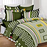 #9: Aroma Comfort 3D Print 140TC Double Bed Bedsheet with 2 Pillow cover