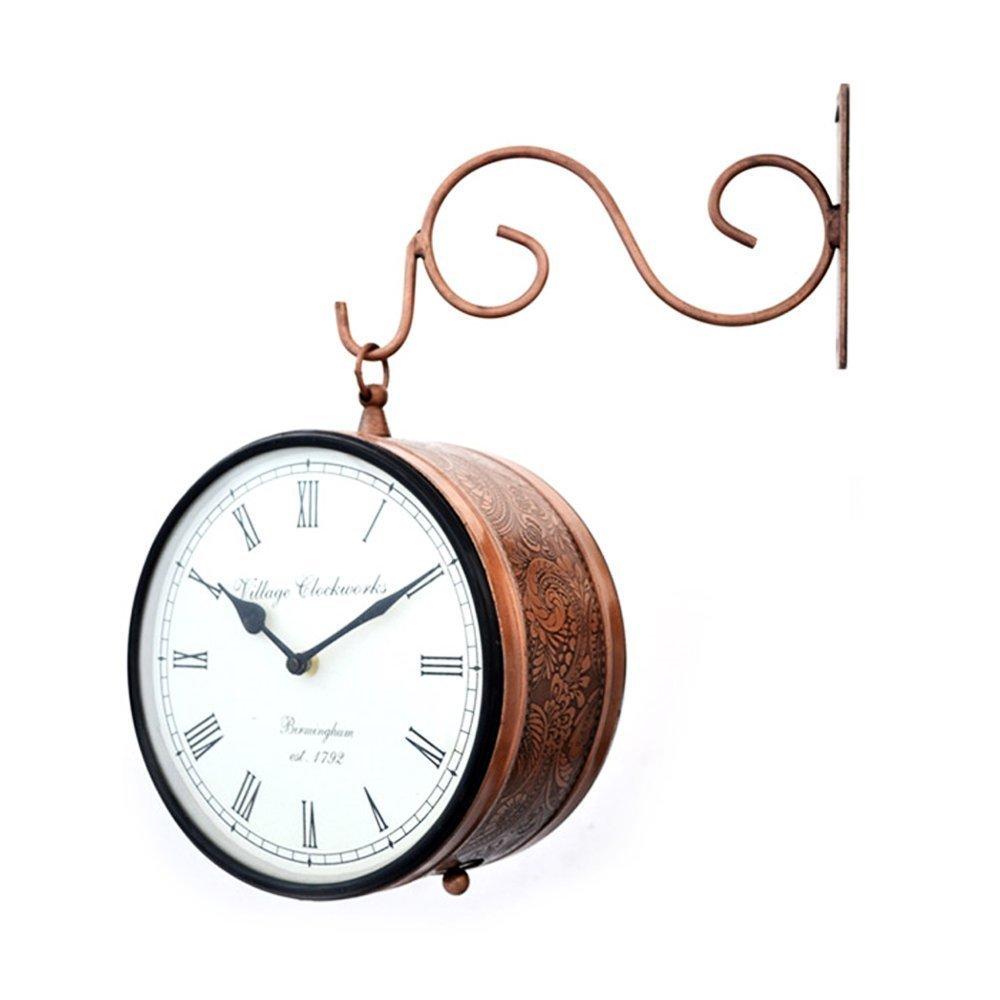 Double Sided Railway Station/platform Analog Wall Clock