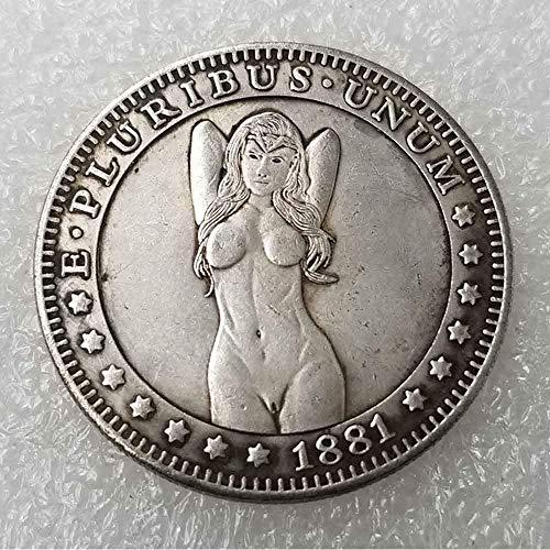 DDTing Best Morgan Münzen - 1881 Hobo Nickel Münze - Old Coin Collecting - USA Old Morgan Dollar - Gedenkgeschenk Münze - Es ist handgefertigt Handwerk GoodService -