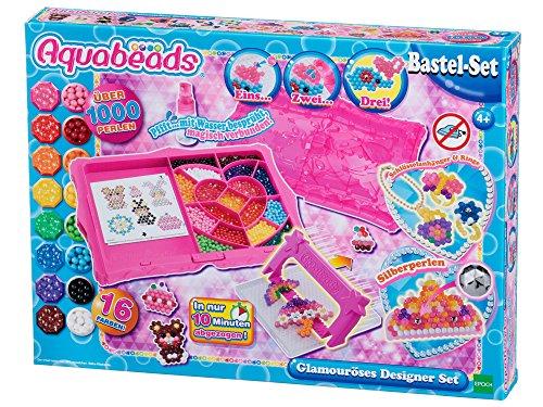 Aquabeads 31799 Glamouröses Designer BastelSet Designer-hut-boxen