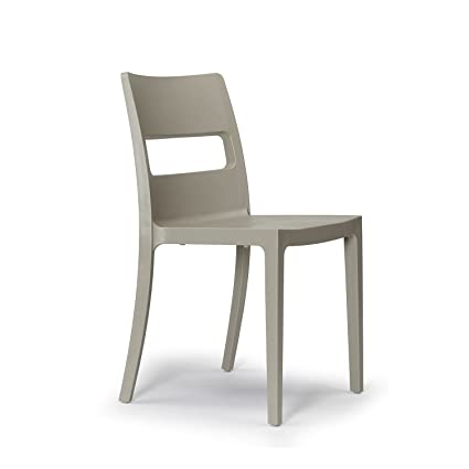 SCAB Design - Set 6 sedie Sai colore tortora: Amazon.it: Casa e cucina