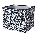 IKEA DRÖNA Box in dunkelblau mit Blumenmuster; 33x38x33cm; Passend für EXPEDIT Regal
